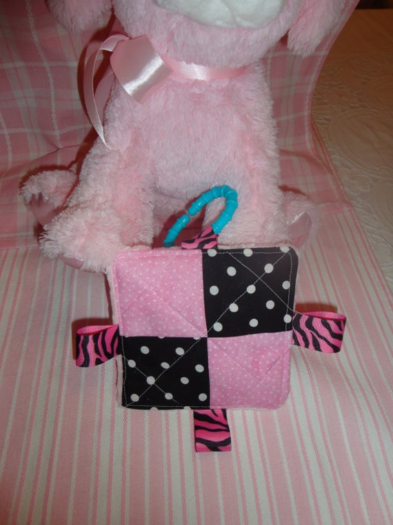Baby Girl Taggy Toy Crinkle Toy girly girl by Sassydoodlebaby, $4.99Girly Girl