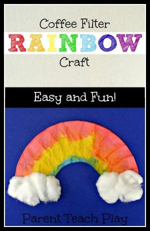 Rainbow coffee filter craft