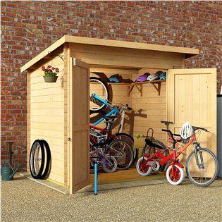 BillyOh Pent Log Cabin Windowless Heavy Duty Bike Store Range - Garden Sheds - Garden Buildings Direct