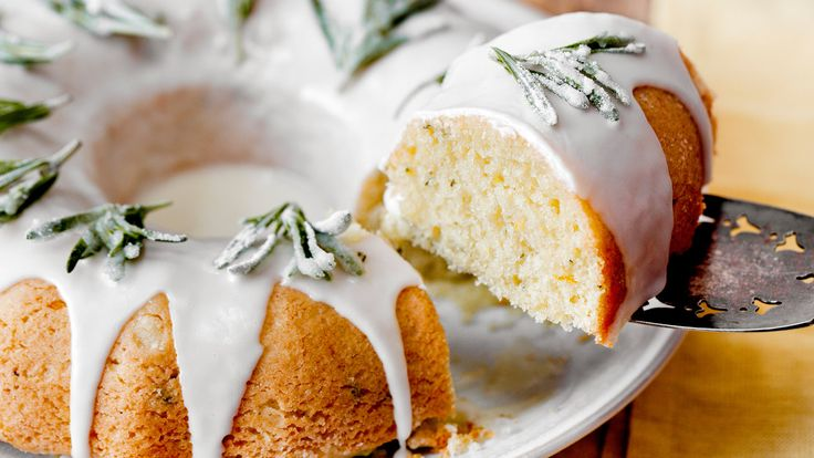 This is a very light cake, similar to a lemon drizzle but with a ton more flavor The rosemary and orange add delicious floral notes A fluted Bundt pan looks especially nice