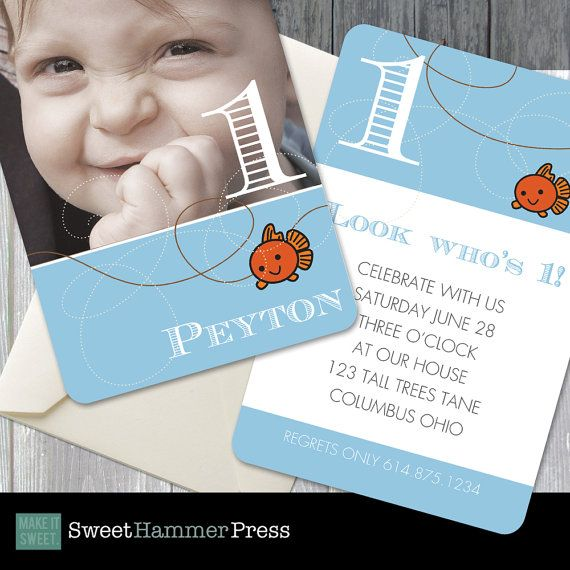 Best Birthday Party Ideas Images On Pinterest Birthday Party - Goldfish birthday invitation