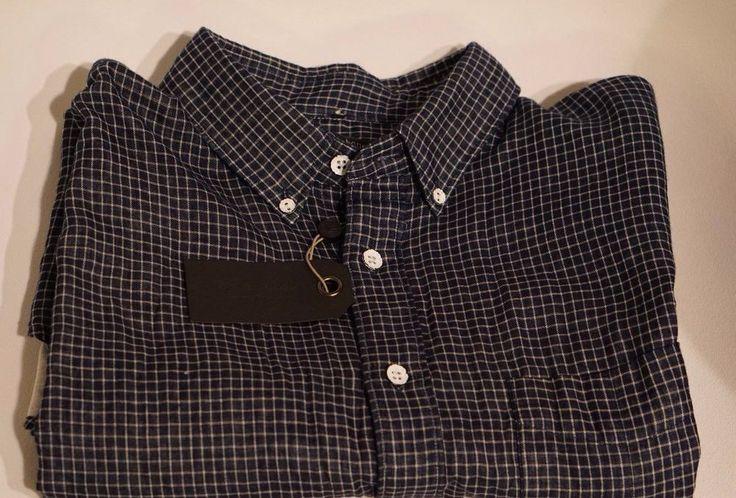 RAG & Bone Men's YOKOHAMA Shirt Slim Fit: NWT Long Sleeve #Indigo Chalk #ragbone #PlaidFrontButton