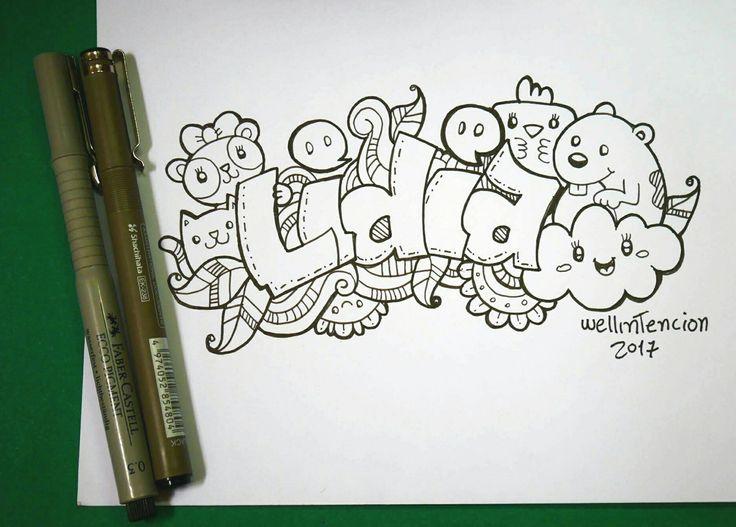Un poco de doodle art de #wellintencion #doodle #draw #sketch #idea #deaw #drawing #cloud #flower #lettering #panda