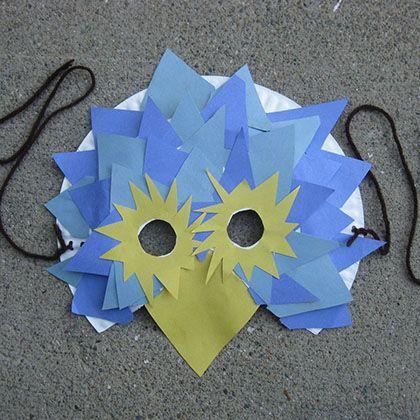 Bird Paper Plate Mask