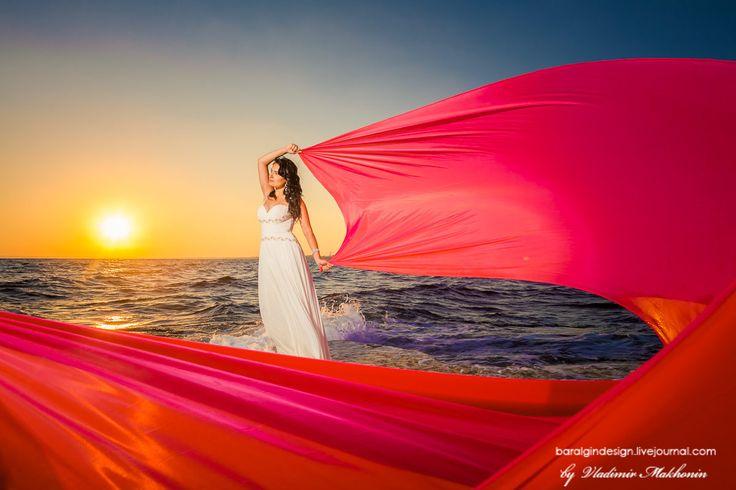 Свадьба на Кипре, закатная съемка