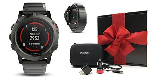 Garmin fenix 5X Sapphire (Slate Gray with Metal Band) GIFT BOX | Bundle: Multi-Sport GPS Watch with Wrist-HR/TOPO Maps, Extra Band, PlayBetter USB Car/Wall Adapter, Protective Case | Black Gift Box   http://huntinggearsuperstore.com/product/garmin-fenix-5x-sapphire-slate-gray-with-metal-band-gift-box-bundle-multi-sport-gps-watch-with-wrist-hrtopo-maps-extra-band-playbetter-usb-carwall-adapter-protective-case-black-gift-box/