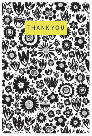 Graphic Thank You Greeting Card - Printed in the UK