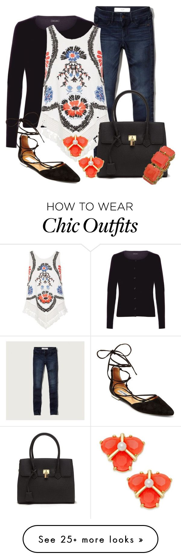 """Teacher Attire: Outfit 28"" by vanessa-bohlmann on Polyvore featuring Abercrombie & Fitch, New Look, River Island, Kate Spade, Steve Madden and Blu Bijoux"