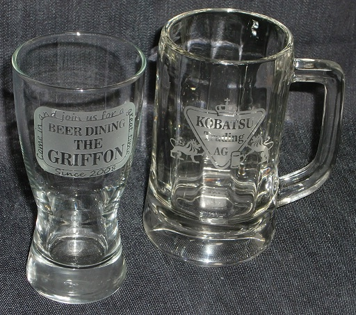 Present glass for beer friend