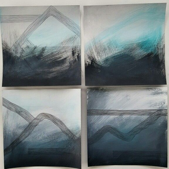 Follow me on instagram @leannearohamulderart  Set of 4..... Landscape and mountain love! ! Acrylic,charcoal and ink on card 22cm x 22cm  Foursies are cute..don't  you think?  #sky #love #instagood  #cute #mountains #snowboarding #photooftheday #instamood #queenstown #newzealand #tweegram #picoftheday #moods #abstractartwork #abstractart #abstractartist #liquitexpaint #goldenflow#consciousness