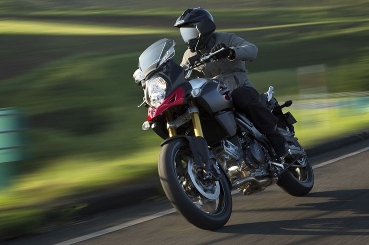 The 2014 Suzuki V-Strom 1000 adventure bike. http://suzukibulletin.co.uk/suzuki-unveil-v-strom-1000/