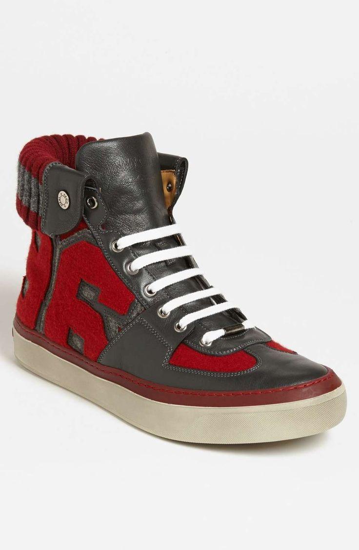 Love the Jimmy Choo 'Walcott Varsity' Sneaker on Wantering | $667 | sale price | Boxing Week for Him | mens high top sneakers | menswear | mens style | mens fashion | wantering http://www.wantering.com/mens-clothing-item/jimmy-choo-walcott-varsity-sneaker/af9cV/