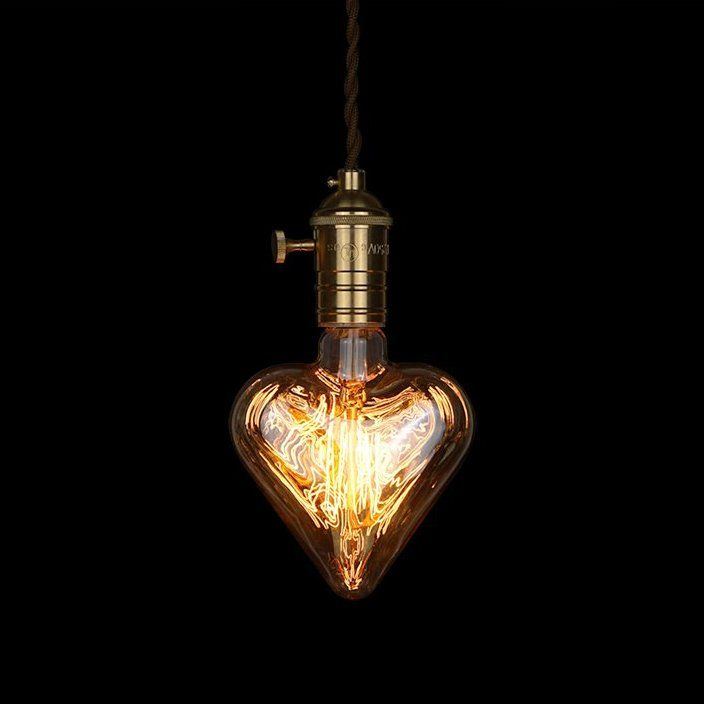 Turing your warm and sweet heart to a light bulb and let it be lightning for others. Inspired by Thomas Edison's original shape design. The unique shape of this light bulb is very adorable with heart shape. It perfectly creates a vintage or industrial style at your home.Descriptions:Bulb Type: Incandescent Clear GlassCondition: Brand new light bulb and packed with factory boxDimmable: YesSize: diameter 110 mm x height 150 mmWatts: 40WVoltage: 220VLife Hours: 3000 average hoursBase Type…