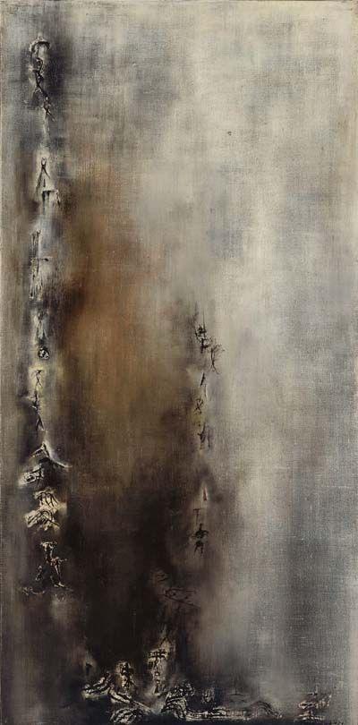 Zao Wou Ki   Vent, 1954. Huile sur toile, 195x96,5 cm