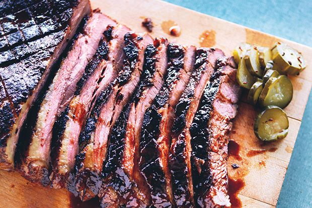 Braised Brisket with Bourbon-Peach Glaze