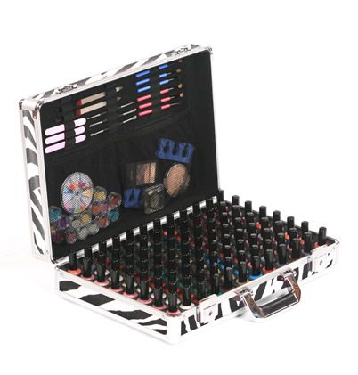 Urbanity Nail XL Nail Polish Storage Case in Zebra.  With its 96 nail polish holders, this nail polish case is perfect for both nail professionals and enthusiasts alike.  Get yours at http://www.urbanityonline.co.uk/Nail-Polish-Storage
