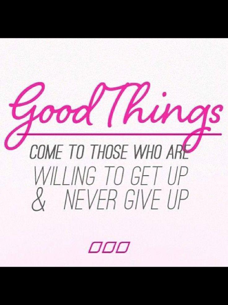 Good things ;)
