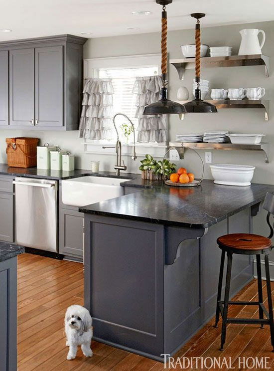 benjamin moore kendall charcoal cabinets and soapstone counters renovated florida beach house traditional home