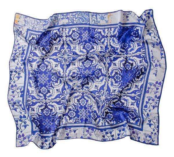Lenço Versatile Azul-Branco