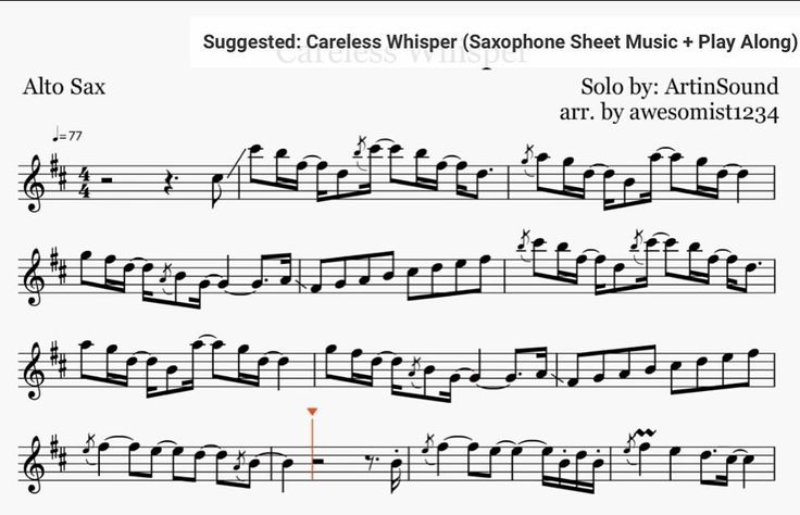 how to play careless whisper on sax