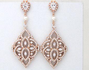 Boucles doreilles cristal Bridal boucles doreilles par treasures570