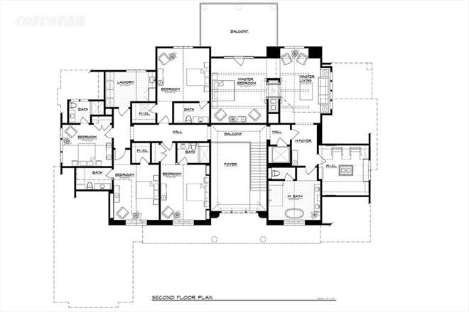 941/933 Head of Pond Road, second floor plan
