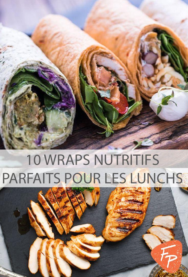 Les wraps sont parfaits pour les lunchs. Nutritifs et goûteux, ils sont rapides à faire et se mangent facilement.  Qu'on les aime chauds ou froids, qu'on soit végétarien ou non, on peut varier les combinaisons d'ingrédients à l'infini, changer les sauces au gré de nos inspirations et troquer les tortillas pour des feuilles de riz ou de laitue.