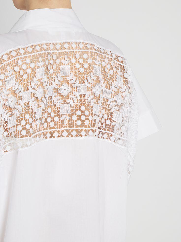 17201 lace-insert cotton-blend kaftan | Lila Eugenie | MATCHESFASHION.COM UK