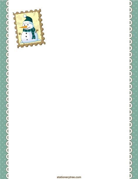 printable snowman stationery and writing paper  free pdf downloads at      stationerytree com