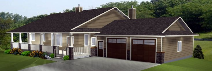 Ranch Style House Plans with Basement, Country Style Bedroom - End ...