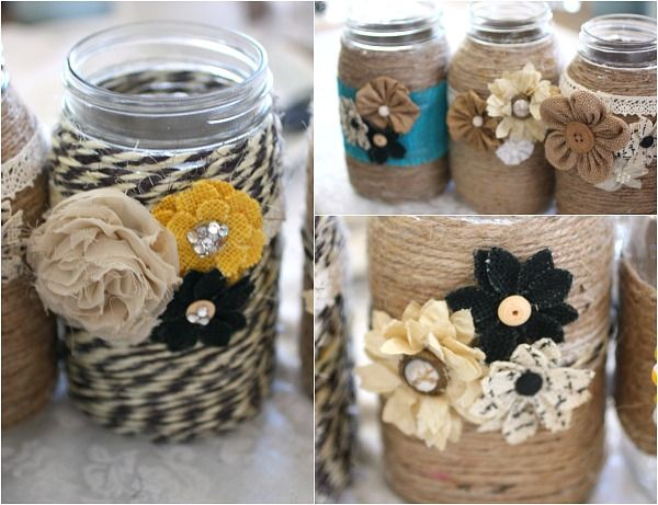 A wonderful tutorial and video on how easy it is to gather friends for a fun girls craft night making these mason jars.