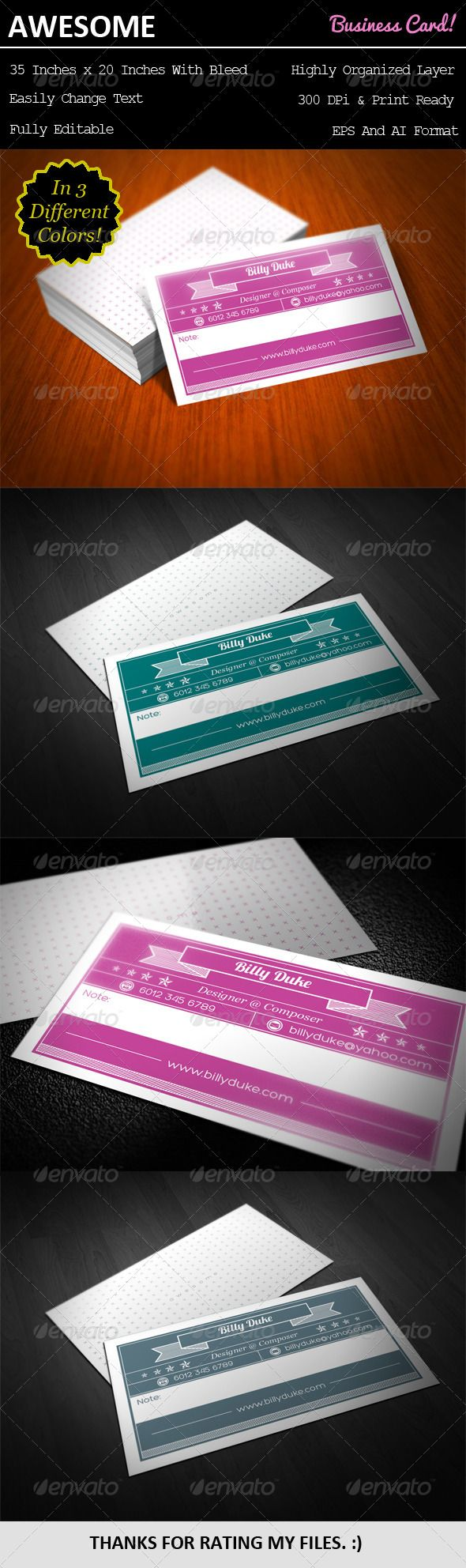 Awesome Business Card   Business, Cards and Awesome business cards