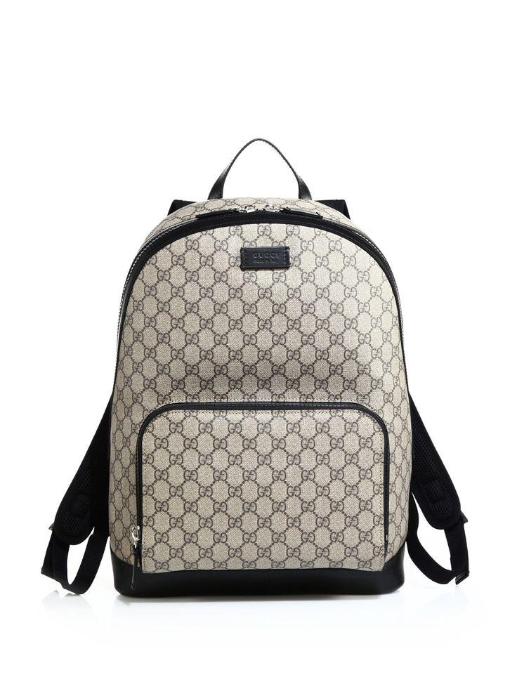Gucci Gg Supreme Canvas Backpack For Men
