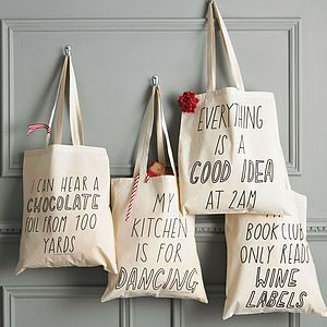 Silly Slogan Tote Bag - gifts for foodies