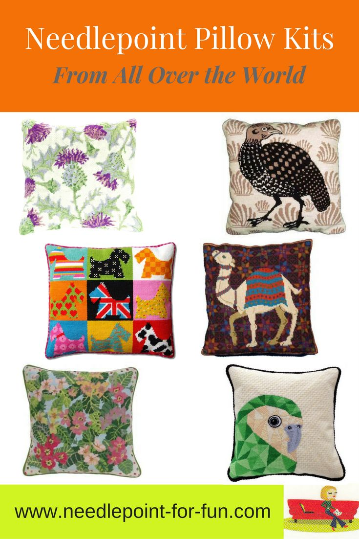 Needlepoint pillow kits english traditional tapestry contemporary