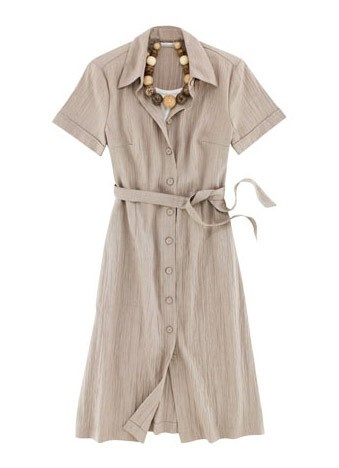 Tilley Clothing For Women Linen Travel Dress Taupe