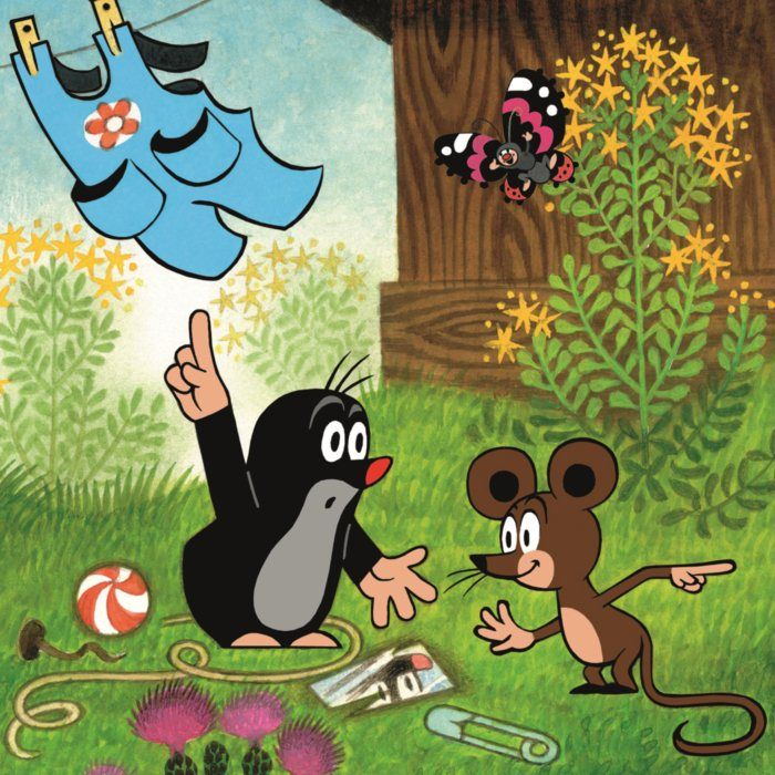 Le petit Taupek, personnage celebre des films animés tcheques d´apres les illustrations de Zdenek Miler.
