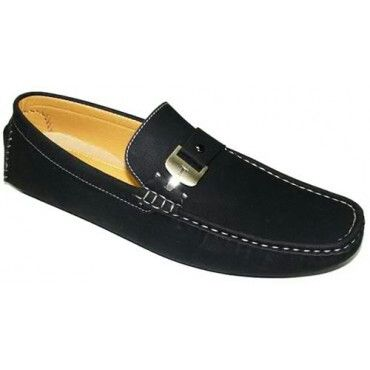 True republic black suede loafers on Konga (size 8)