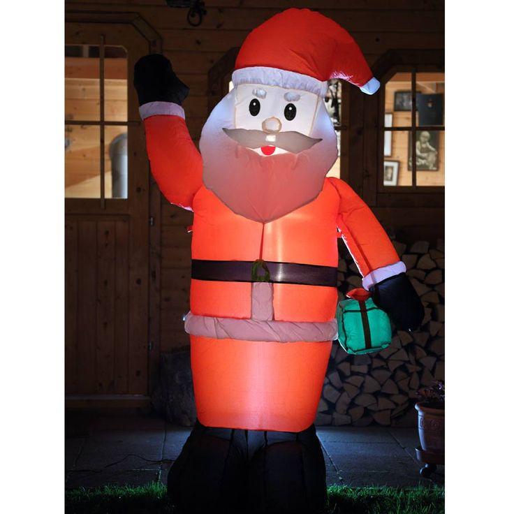 Von innen beleuchteter #Weihnachtsmann lebensgroß (180 und 240 cm) als #Gartendekoration für die #Weihnachtszeit. #weihnachten #weihnachtsdeko #weihnachten #dekoration #weihnachtsbeleuchtung #außen #nikolaus #weihnachten