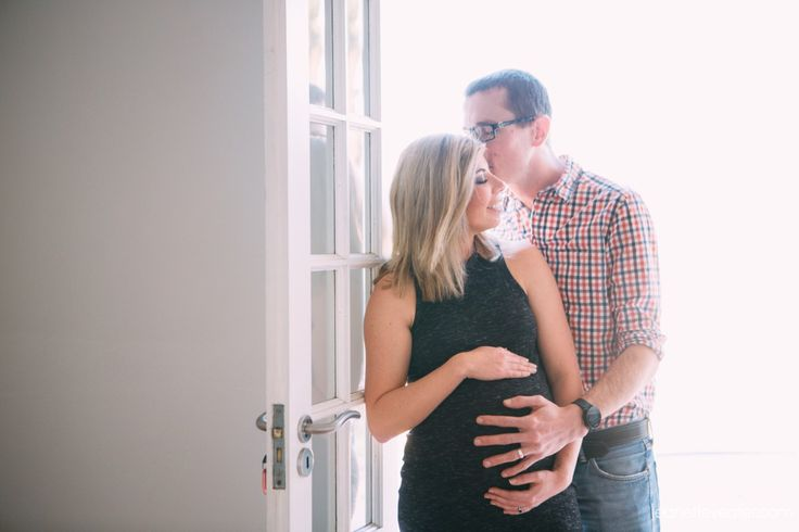 Elaine and Bryan's maternity shoot at home