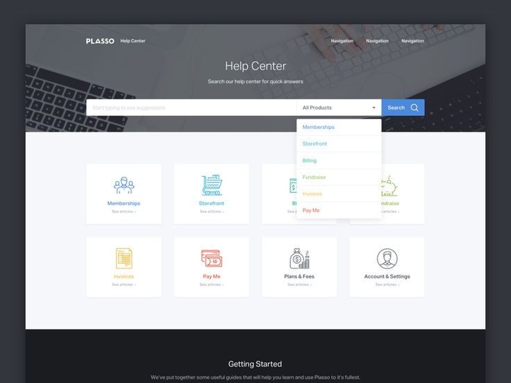 Final Version Of The Help Center Homepage. Make Sure To Check Out The  Pixels. Part 89