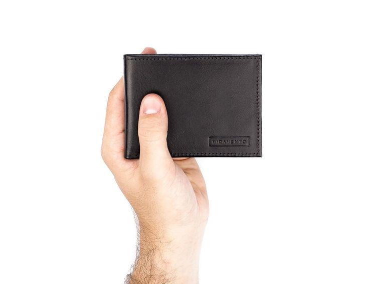 Carteira masculina Tradd em couro italiano preta - Enluaze Loja Virtual | Bolsas, mochilas e pastas
