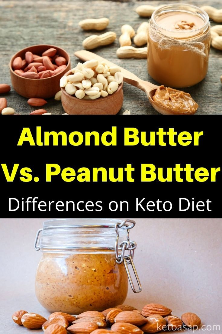 Here Are The Differences Between Peanut Butter And Almond Butter And How To Use Them On Keto Keto Diet Food List Nutrients In Almonds Food Processor Recipes