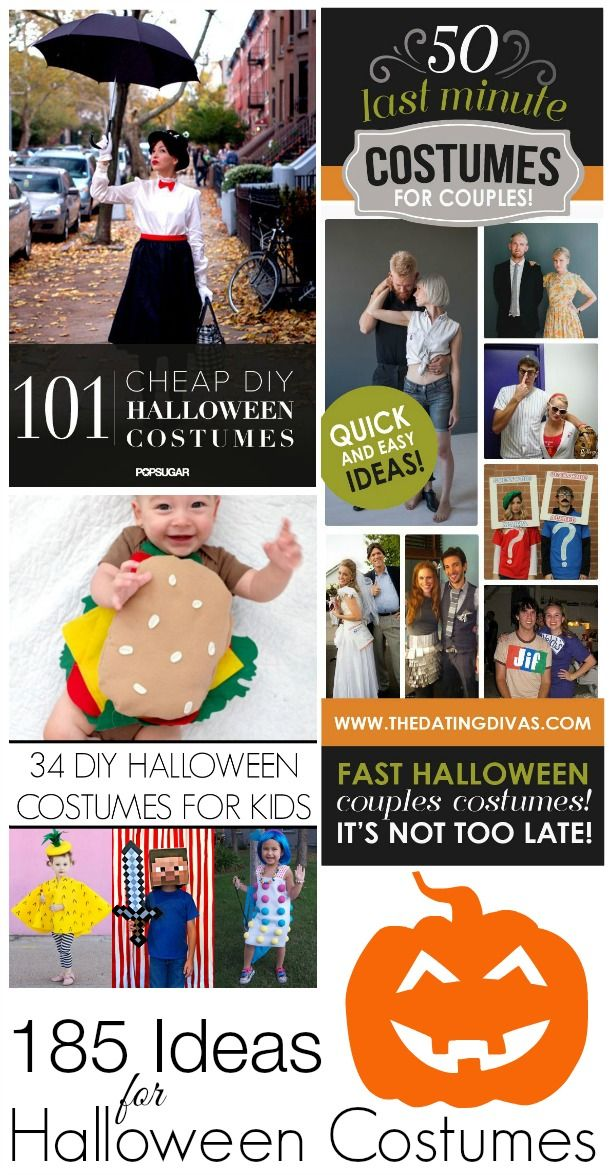 Last Minute Halloween Costume Ideas | featuring Pop Sugar, Craft and Dating Divas! foxhollowcottage.com