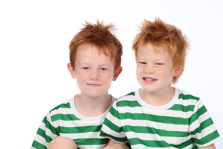 The redhead gene is recessive and can skip several generations.
