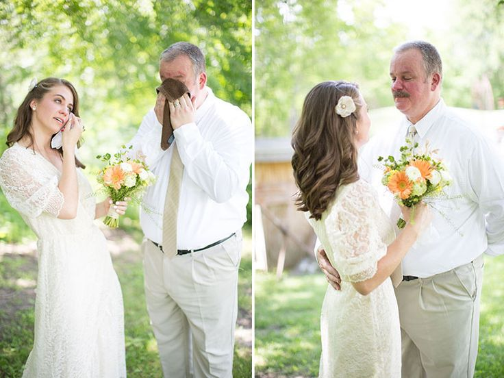 Emotional First Look With A Bride And