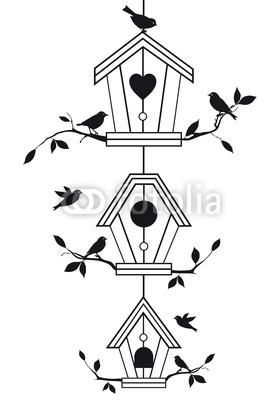 dessin nichoirs l 39 oiseau fait son nid pinterest. Black Bedroom Furniture Sets. Home Design Ideas