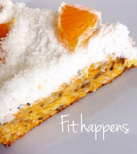 Zdravý mrkvový koláč s tvarohem a kokosem :: Fit-happens