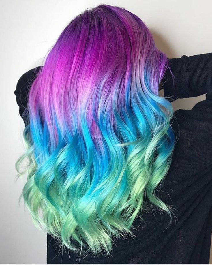 unique creative hair color