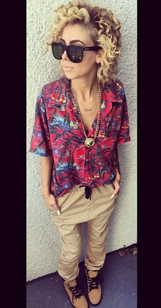 Hawaiian Shirt Outfit. Urban Fashion. Urban Outfit. Hip Hop Style. Swag. Dope. Urban Style.  Pinterest: ♚ @RoyaltyCalme †